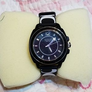 Coach watch black band